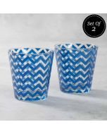 Chevron Melavo Conical Glass Tumbler (Set of 2)