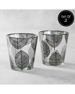 Monochrome Monologues Conical Glass Tumbler (Set of 2)