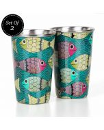 Incoherent Pisceans Steel Tumbler (Set of 2)