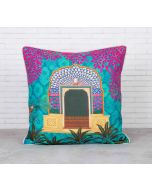 Phasianidae Monastery Satin Blend Cushion Cover