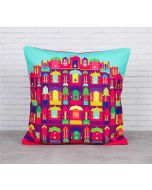 Palatial Illusions Canvas Blend Cushion Cover