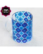 Ultramarine Tracery Glass Mug