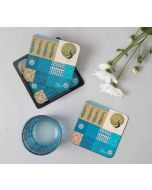 Geometric Pirouette MDF Coasters (Set of 6)