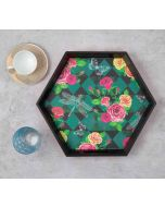 India Circus Floral Flutter Tray