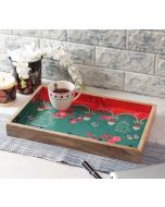 India Circus Chirping Birds Realm Serving Tray