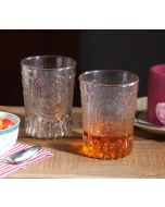 India Circus Tangerine Glass Tumbler (Set of 2)