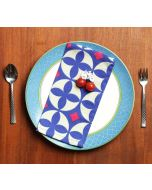 India Circus Elixir of Geometry Cocktail Napkins Set of 6