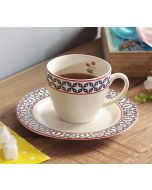 India Circus Flowers and Ferns Cup and Saucer