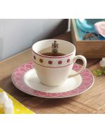 India Circus Floral Lattice Cup and Saucer