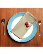India Circus Plaza Taupe Table Napkin Set of 6