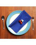 India Circus Royal Azure Table Napkin Set of 6