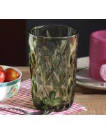India Circus Green Orchid Regular Glass Tumbler