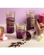 India Circus Circle of Life Purple Moroccan Glasses Set of 6