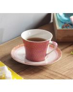 India Circus Lattice Lotus Cup and Saucer