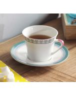 India Circus Rose Creeper Cup and Saucer