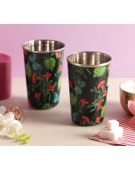 India Circus Fluttering Extravagance Steel Tumbler Set of 2