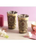 India Circus Tree of Twin Spirits Steel Tumbler Set of 2