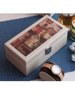India Circus The Mughal Era Leather Watch Box