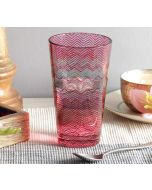 India Circus Waves of Chevron Glass Tumbler