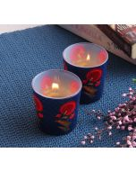 India Cirucs Flower Regalia Tea Light Holder Set of 2