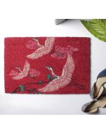 India Circus Legend of the Cranes Red Doormat