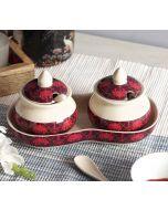 India Circus Poly Palmeria Ceramic Pickle Jar
