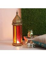 India Circus Arabesque Iron Candle Lantern