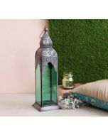 India Circus Green Minaret Candle Lantern