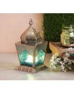 India Circus Green Dome Small Candle Lantern