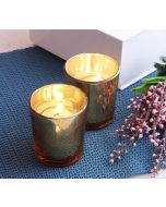 India Circus Golden Glass Votives Gift Box (Set of 2)