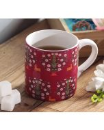 India Circus Deer and Conifer Garden Coffee Mug Small