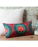 "India Circus Platter Symmetry 16"" x 8"" Blended Taf Silk Cushion Cover"