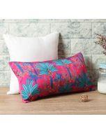 "India Circus Royal Palms 16"" x 8"" Blended Taf Silk Cushion Cover"