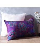 "India Circus Eggplant Berry Pecker 20"" x 12"" Blended Taf Silk Cushion Cover"