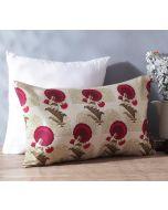 "India Circus Flower Regalia 20"" x 12"" Blended Taf Silk Cushion Cover"