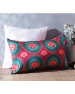 "India Circus Platter Symmetry 20"" x 12"" Blended Taf Silk Cushion Cover"