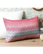 "India Circus Waves of Chevron 20"" x 12"" Blended Taf Silk Cushion Cover"