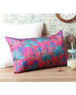 "India Circus Royal Palms 20"" x 12"" Blended Taf Silk Cushion Cover"