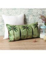 "India Circus Palmeria Conifer Reiteration 16"" x 8"" Blended Velvet Cushion Cover"