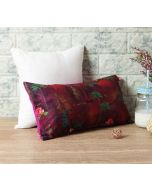 "India Circus Jam Lake Florist 16"" x 8"" Blended Velvet Cushion Cover"