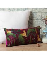 "India Circus Forest Fetish 16"" x 8"" Blended Velvet Cushion Cover"