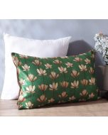 "India Circus Lotus Pond 20"" x 12"" Blended Velvet Cushion Cover"