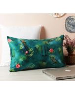 "India Circus Lake Florist 20"" x 12"" Blended Velvet Cushion Cover"