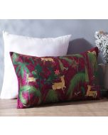 "India Circus Forest Fetish 20"" x 12"" Blended Velvet Cushion Cover"