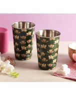India Circus Lotus Pond Steel Tumbler Set of 2