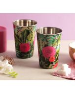 India Circus Herbs of Captivation Steel Tumbler Set of 2