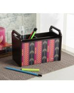 India Circus Geometrical Palmeria Desk Organizer
