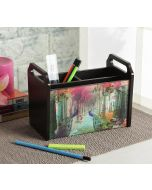 India Circus Peacock Dwar Desk Organizer