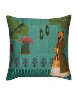 Maharaja Walk Poly Taf-Silk Cushion Cover