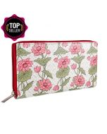 Floral Rapture Zipper Wallet